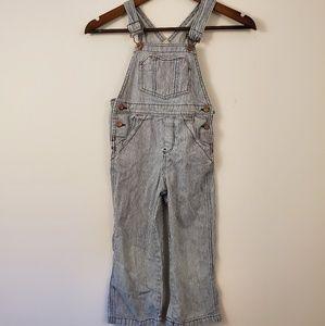 Vintage oshkosh Bagosh blue white striped overalls